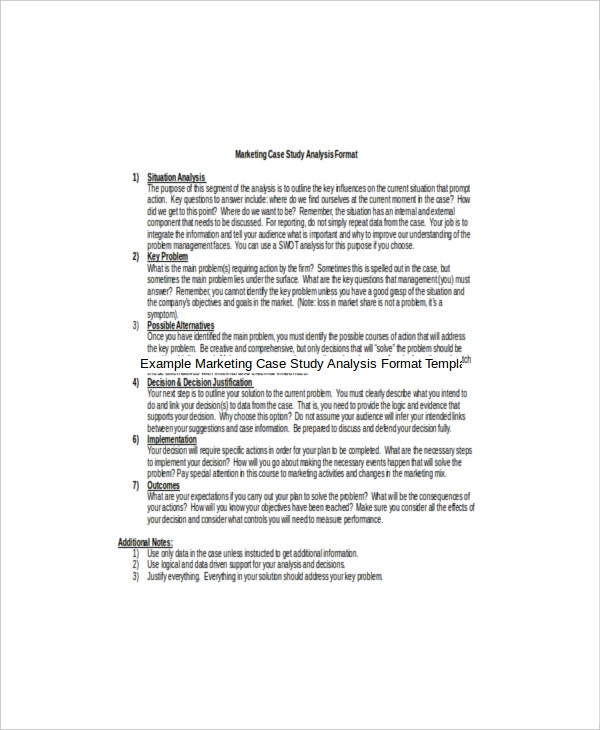 writing case study analysis report A case study is an in-depth analysis of a real-life situation or incident, as a way to  illustrate content  in the planning stage, it might be helpful to write at least three  objectives or outcomes  the example here is in the harvard format example.