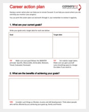 Career Action Plan Template