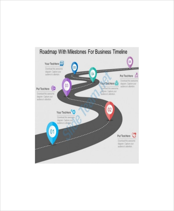 Sample Marketing Roadmap With Milestones Template