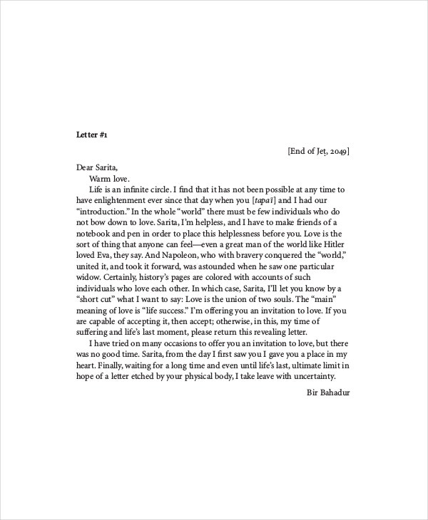 Goodbye Letter Template 4 Free PDF Documents Download – Goodbye Letter