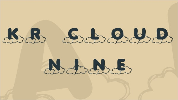 kr cloud nine font
