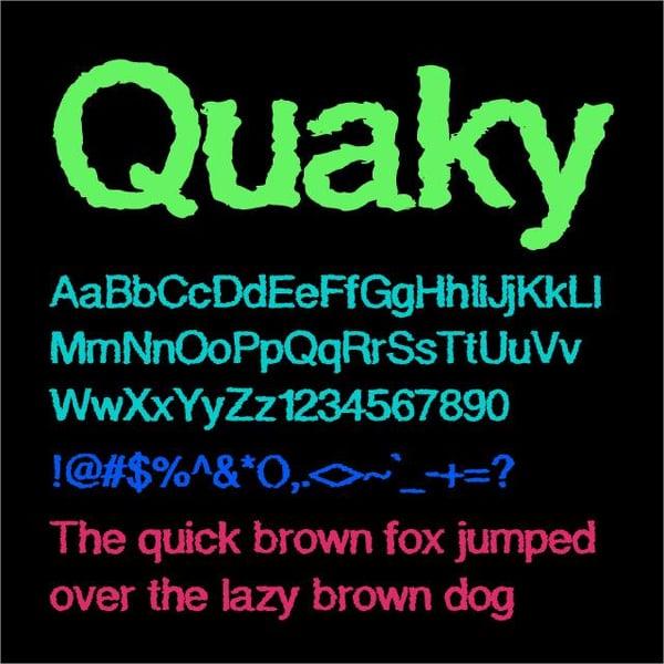 Quaky Cloud font