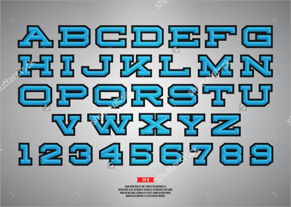 sport style logo font