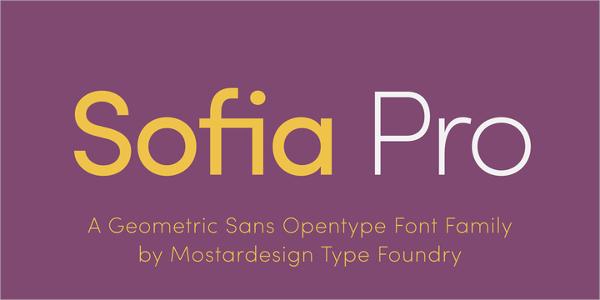 sofia pro logo font