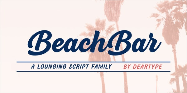 BeachBar Logo Font