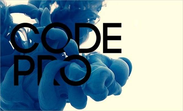 Code Pro Logo Font