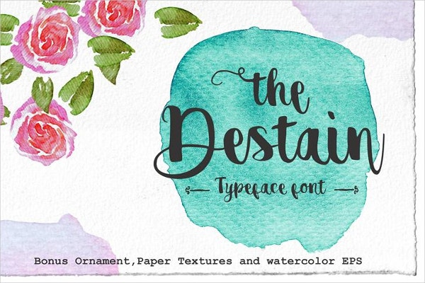 Destain Logo Font
