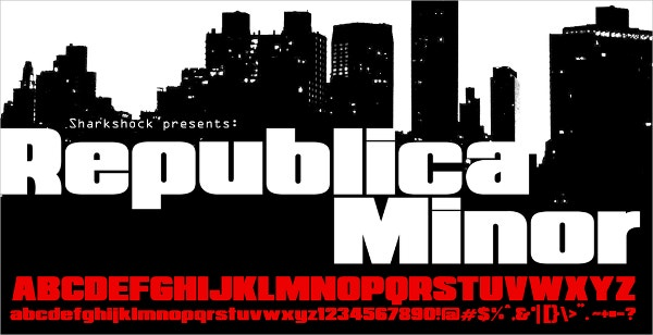 Republica Minor Logo Font