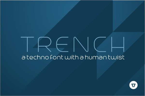 trench logo font