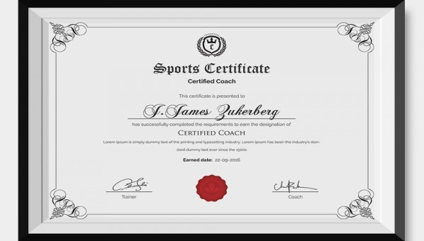 31  sports certificate templates