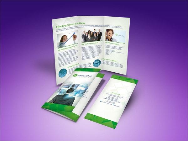 SAP Consulting Company Trifold Brochure