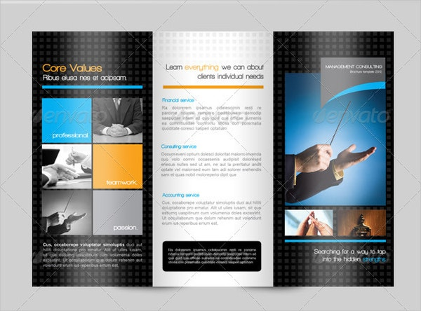 Corporate Consulting Trifold Brochure