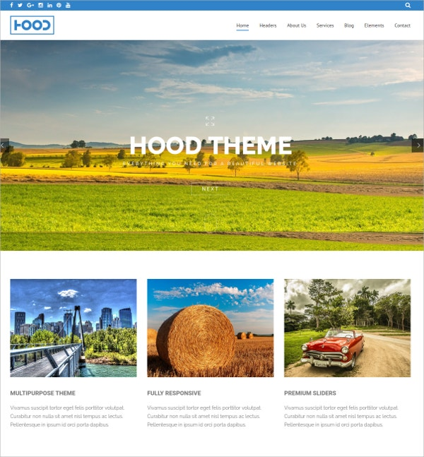 Parallax Portfolio WordPress Theme $44
