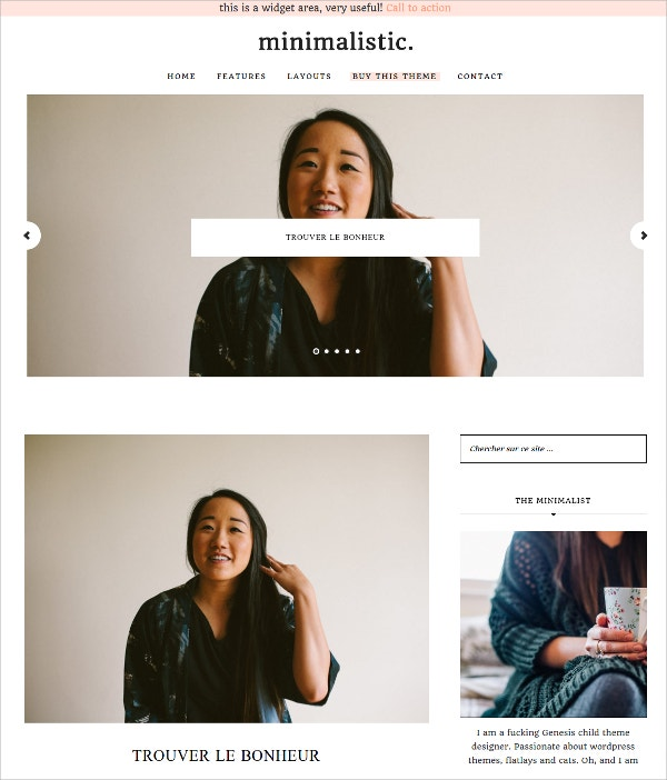 Feminine Photography WordPress Theme $35