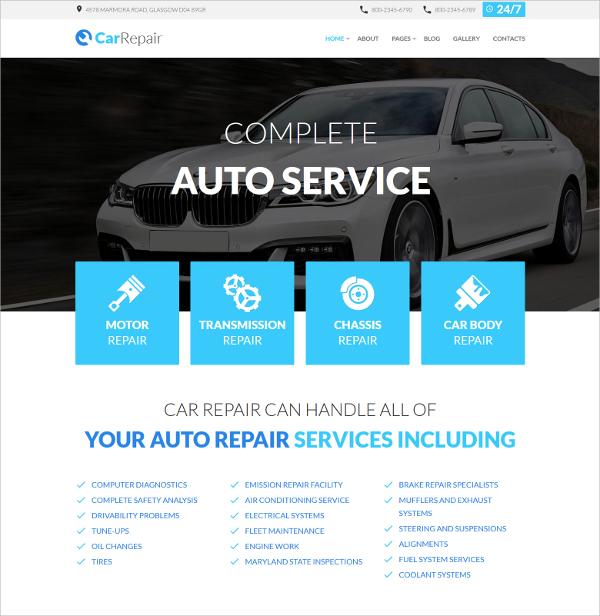 Auto Service Joomla Template $75