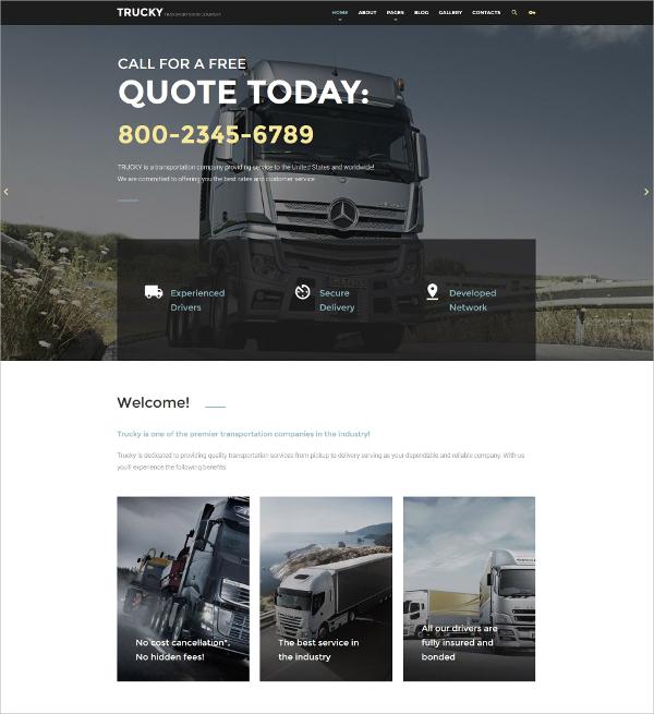 Transportation Industry Joomla Template $75