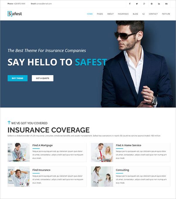 Insurance Agency Joomla Template $48