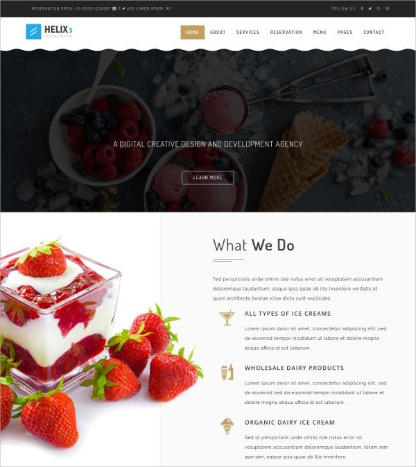Restaurant,Bakery  Multipurpose Joomla Template $48