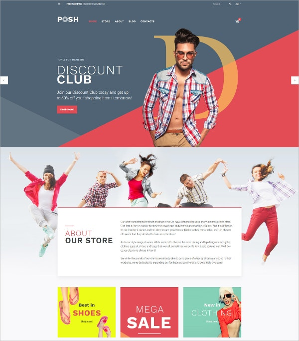 Shopping Responsive Blog WooCommerce Theme $114