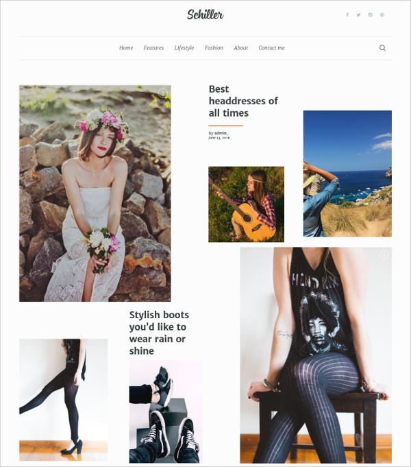 Personal Portfolio Blog Theme $44