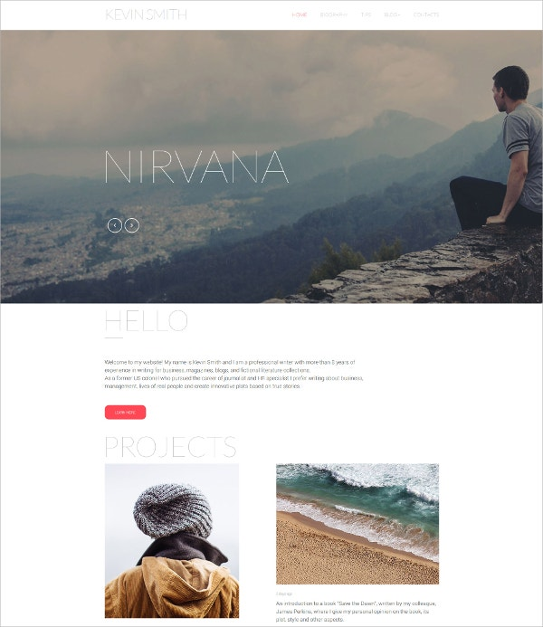 Author Responsive HTML5 Website Template $75