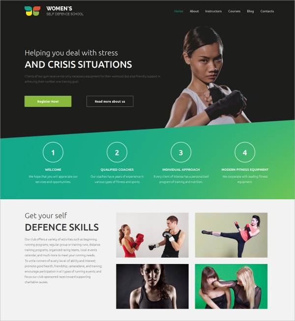 Martial Arts,Defence Skills HTML5 Template $199