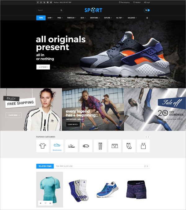 WordPress HtML5 Supermarket Theme $59