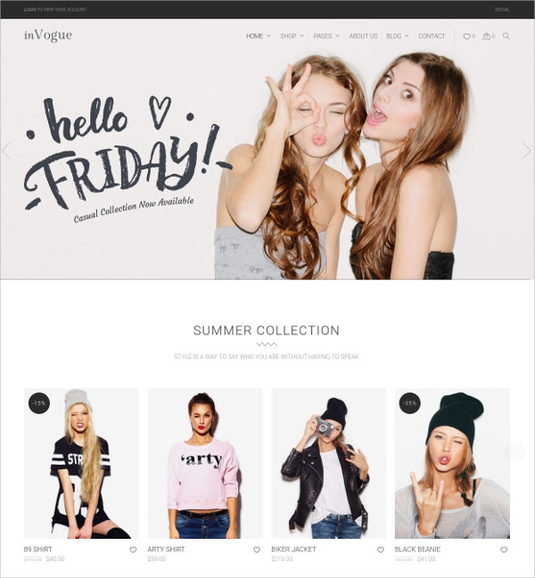 WordPress Fashion Wear Shopping HTML5 Theme $59