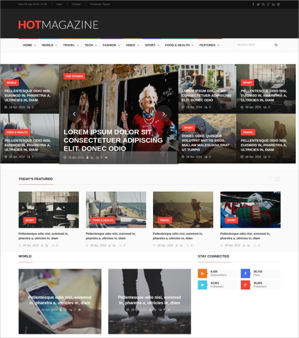 Fashion News & Magazine HTML5 Drupal Theme $48