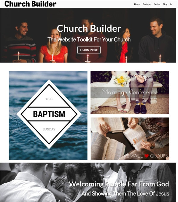 Church Builder HTML5 Theme $59