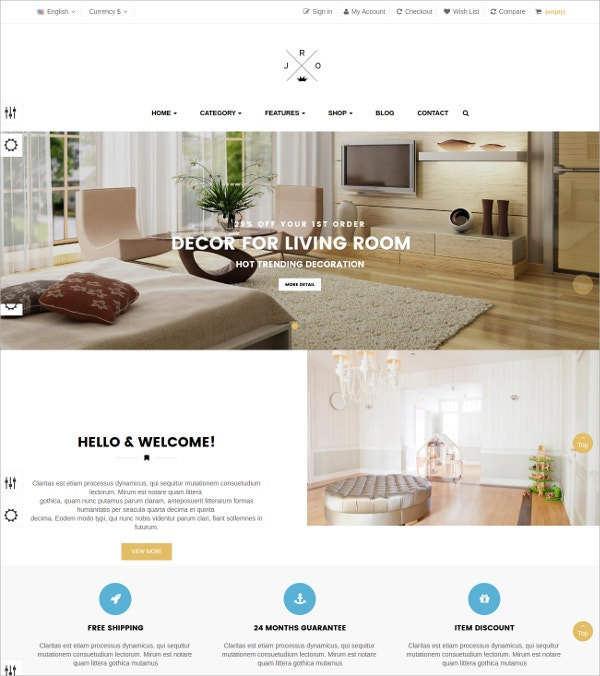 decorate html5 prestashop theme 69