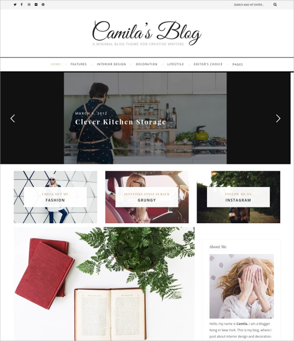 Personal WordPress Blog HTML5 Theme $39