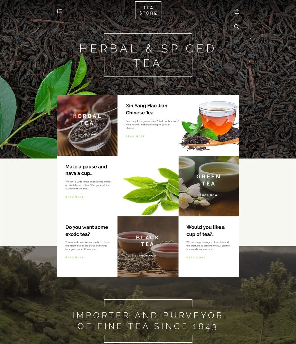 Herbal Tea Powder eCommerce Shopify Theme $139