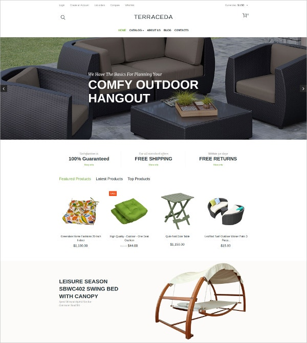 Interior Design Furniture eCommerce VirtueMart Template $139