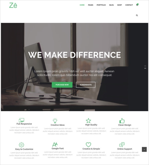 Personal & eComerce WordPress Theme $59