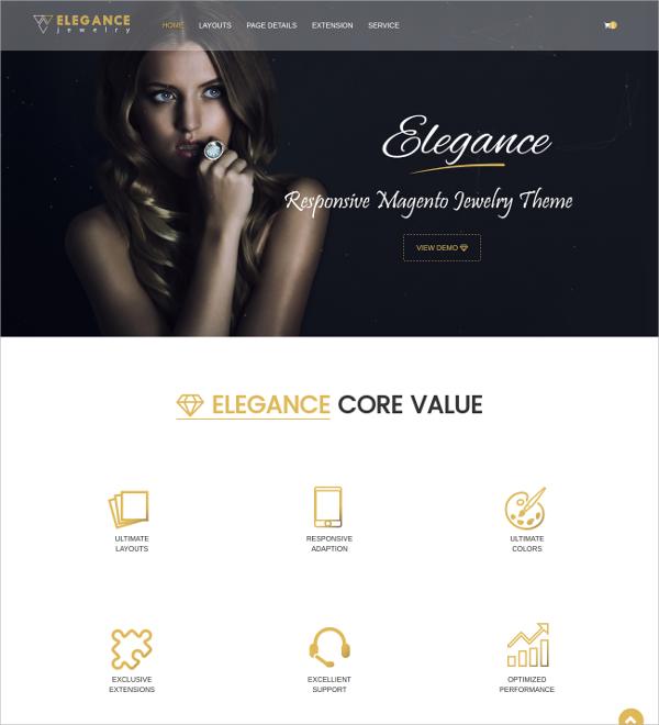 Magento Responsive Jewelry eCommerce Theme $84