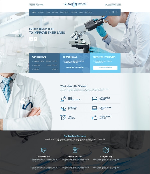 Clinic & Hospital PSD Drupal Template $12