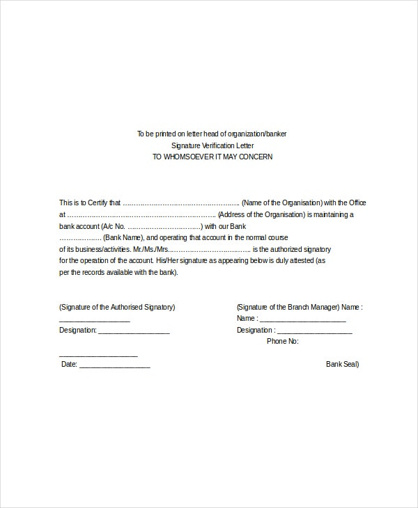 10 employment verification letter templates free sample employee verification letter for bank spiritdancerdesigns