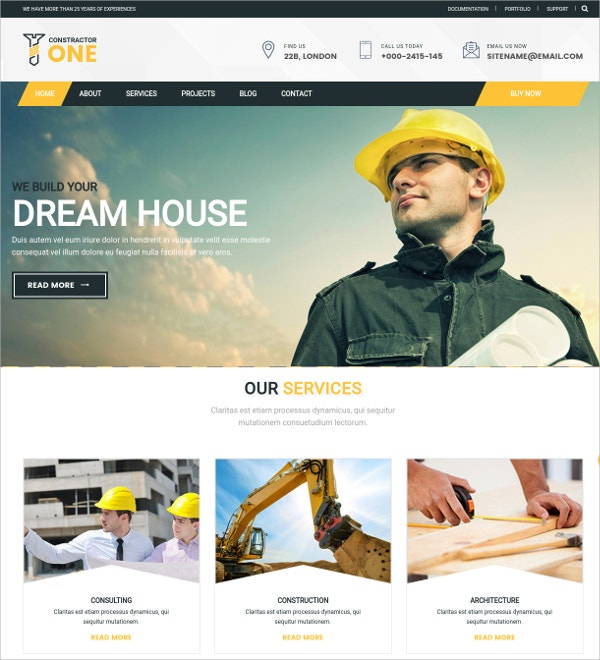 Industry Constractor Drupal Theme $48