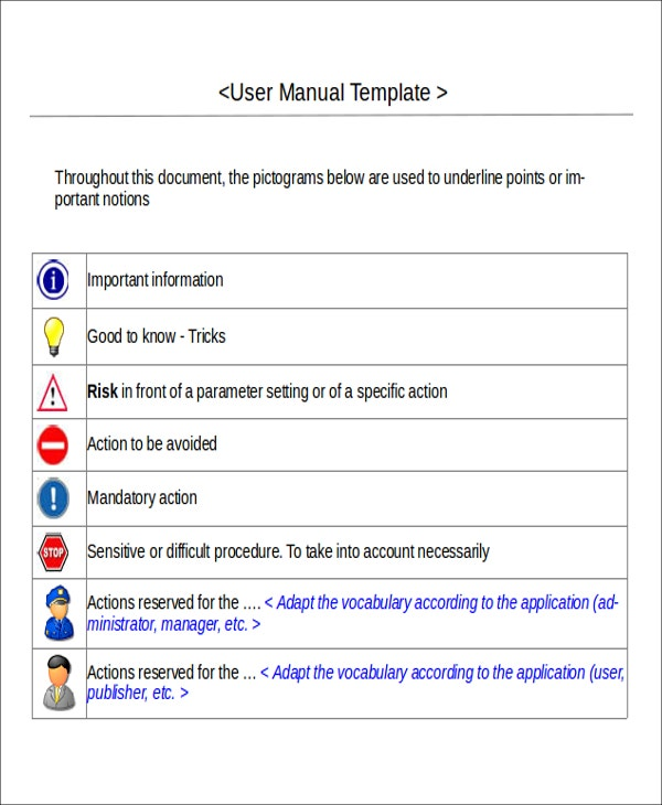 Instruction Manual Template For Users