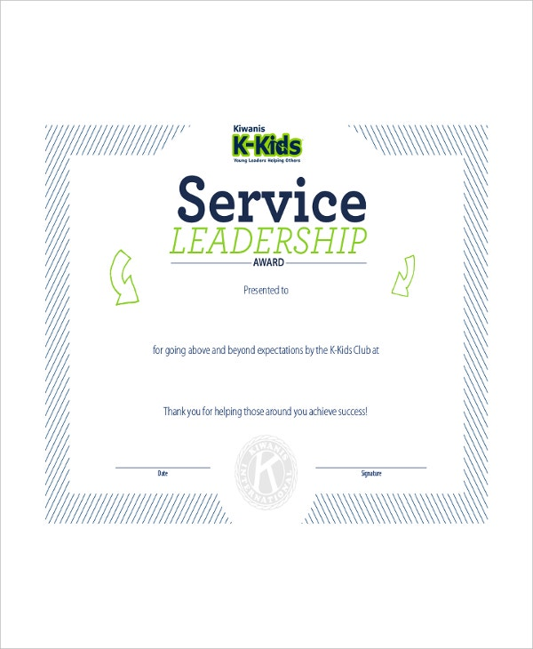 Leadership certificate template 7 free word pdf psd format service leadership certificate template yelopaper Image collections