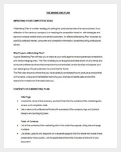 Marketing Plan Sample in Word Doc Download