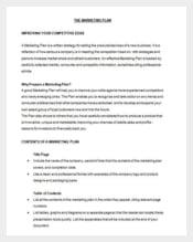 Marketing Plan Sample in Word Doc Download