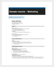 Marketing Resume Template1