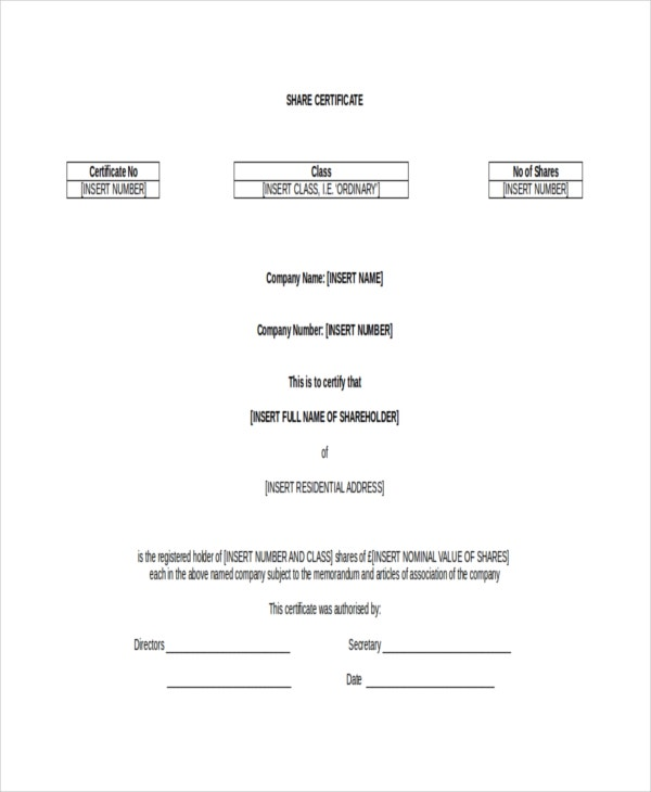 Printable Certificate Template 21 Free Word Pdf Documents