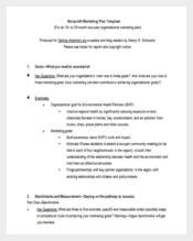 Nonprofit Marketing Plan Word Format Free Download