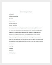 Business Marketing Letter Sample Template