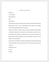 Example Marketing Letter to Physician