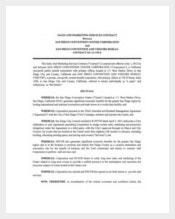 Sample Sales and Marketing Service Contract Template