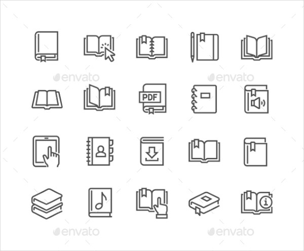 textbooks icons